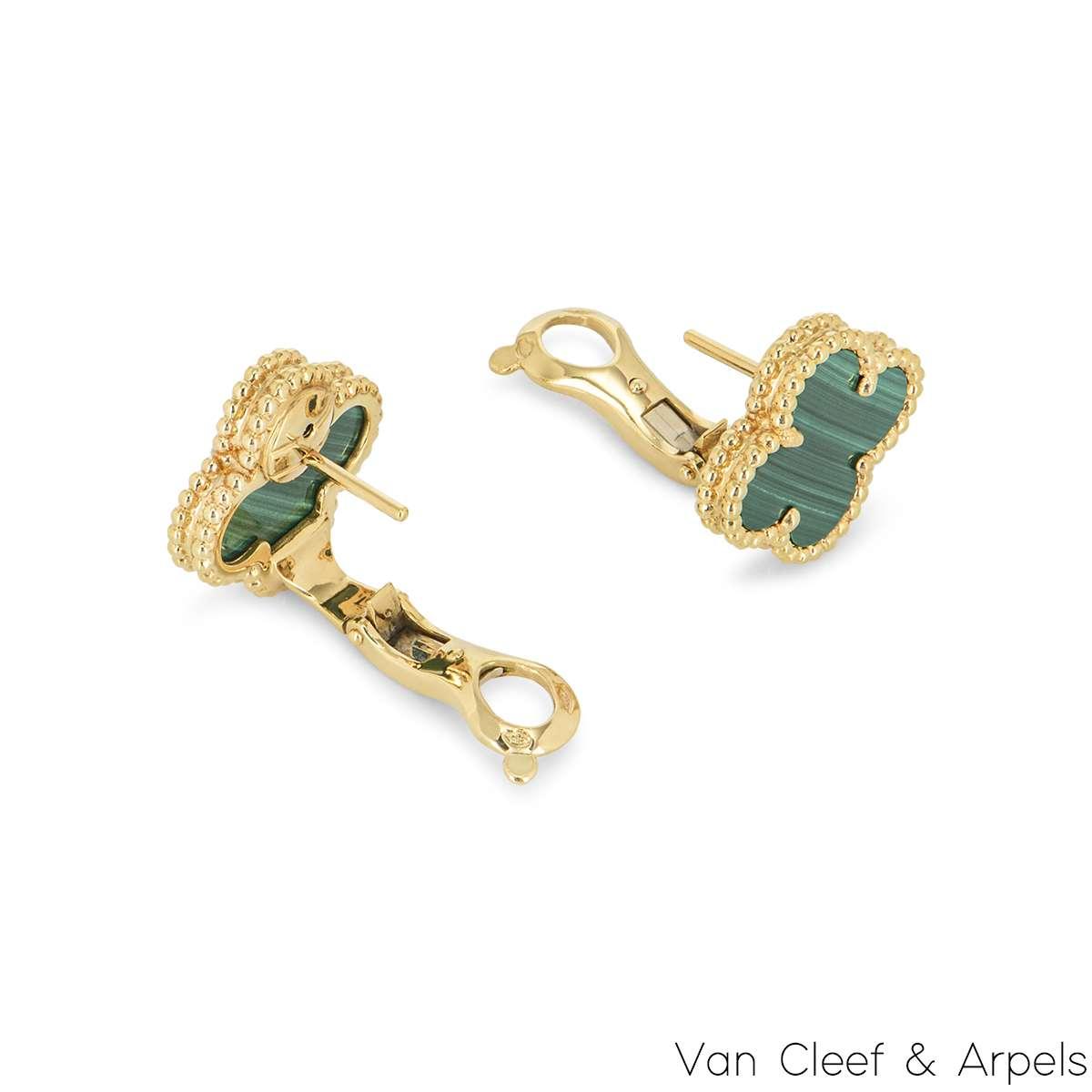 Van Cleef & Arpels VintageAlhambra Malachite Earrings VCARO3QL00